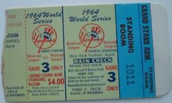 1964 World Series Gm 3 Mickey Mantle Walk-off Hr 16 Ticket Top Babe Ruth Record