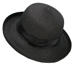 Women#x27;s Summer Sun Hat Outdoor Beach Straw Bucket Hat Cap Derby Hat $23.97