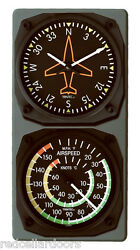 New Trintec Directional And Airspeed Clock And Thermometer Aviation Console Set