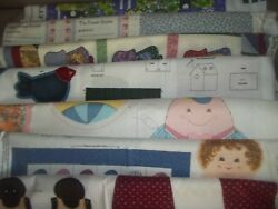 Dolls Raggedy Clothes Pillow Panel Cotton Quilt Fabric U-pick Read For Info