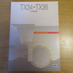 Ford New Holland Tx 34 36 Tx34 Tx36 Combine Harvester Uk Sales Brochure 1987