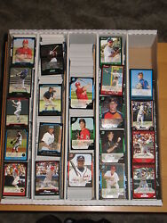 2004 Bowman Draft, Gold, Aflac Chrome Draft Insert Lot - Approximately 688 Cards