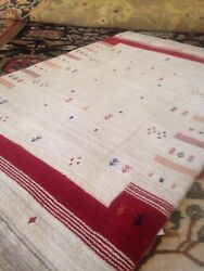 Modern Spectacular Hand Made Area Rug Large Gabbeh 10 X 14and039 New Nomadic Fine A+