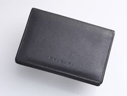 H4491M Authentic BVLGARI Genuine Leather ID Pass Business & Credit Card Case