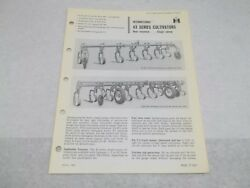 International Farmall 43 Series Rear Mounted Cultivator Sales Brochure