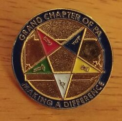 Grand Chapter Of Pa Making A Difference Pentagram Golden Metal Lapel Pin
