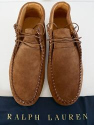 New Brown Suede High-top Moccasins Ankle Boots Men's Shoes Us-11.5d