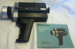 1974 Bell And Howell Focus-matic 671 / Xl Zoom Movie Camera And Instruction Booklet