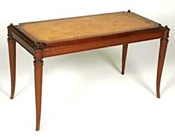 Regency Style Parchment Top Coffee Table Cocktail Side End Center Dining Console