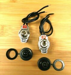 2 BBT Marine Grade Waterproof On Off Low Profile Pre Wired Toggle Switches $14.95