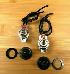 2 BBT Waterproof On Off Low Profile Pre Wired Toggle Switches $13.95