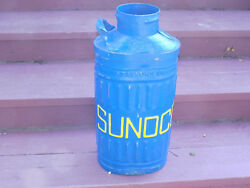 Sunoco Cast Metal Embossed Oil Can