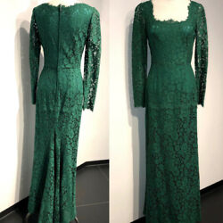 NWT  DOLCE&GABBANA SQUARE NECK LACE GOWN IT46. US10 $7999