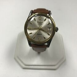 D345 Vintage Wyler Incaflex Swiss Dynawind Automatic Stainless Menand039s Wrist Watch