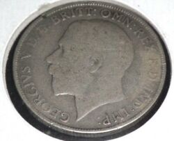 Great Britain Coin 1921 King Georgivs V British Silver One Florin