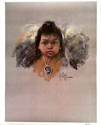 Native American Art Signed Lithograph By African American Artist Jess Dubois