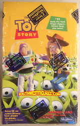 Rare Disney Toy Story 1996 Trading Card Box With All 48 Packs Factory Sealed