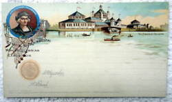 Postcard 1893 Chicago Worlds Columbian Exposition The Fisheries Building 11