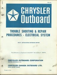 Chrysler Outboard Marine Electrical System Trouble Shooting And Repair Ob 979s