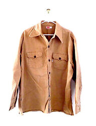 Levi's Big E Denim Shirt Size Xl 1970's Almost 50 Years Old Vintage Tan