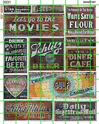 1031 Dave's Decals Ho 187 Scale Ghost Signs Old Buildings Gas Movies Beer
