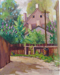 Blanche Fox Morey Arts And Crafts Opaque Water Color Painting Lilack Sic Time