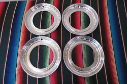 Nos 14 Beauty Trim Rings Hubcaps 1950and039s 1960and039s Chevy Ford Buick Accessory