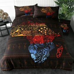 Bedding Set Duvet Cover African Map Printed Bedclothes 3-piece Home Textiles New
