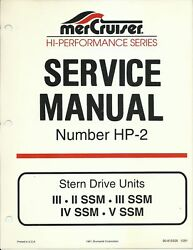 Mercury Marine Mercruiser Service Manual No. Hp-2 Stern Drive Units 90-815526