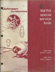 Johnson Outboards Marine Boat 1974 Special Service Tools Booklet Part No. 379054