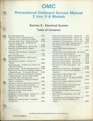 Omc Outboard Marine 2 - V6 Models 1984 Electrical System Service Manual 394607-8