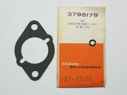 New Gm Delco Rochester Marine Boat Gasket Flange Part No. 3795179 27-33460