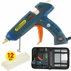 Hot Melt Glue Gun Kit Full Size 100 Watt with Carry Bag and 12 pcs Glue Sticks