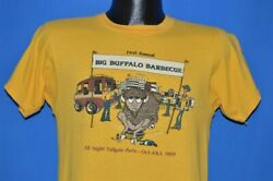 Vintage 80s First Annual Buffalo Barbeque New York Am 1240 Soft T-shirt Small S