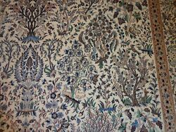 Hand Knotted Carpet Wool And Silk 7 X 10' 5 Naein 6 La
