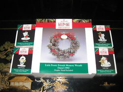 Set Of Five 1990 Little Frosty Friends Memory Wreath And 4 Ornaments Hallmark
