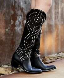 L 903-33-rf Old Gringo Belinda 18 Black Cowgirl Boot Relaxed Fit Style