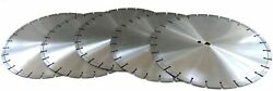 5 Pack 20 Diamond Saw Blade For Masonry, Cured Concrete And Asphalt