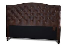 Queen Size Headboard In Genuine Leather W/ Button Or Buttonless Diamond Tufting