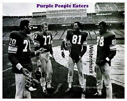 Nfl 1970 Minnesota Vikings Purple People Eaters Picture 8 X 10 Photo Picture