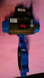 8 Butterfly Valve Air Over Electric Control Unit -stainless Steel 316 Butterfly