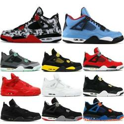 Mens 4 4s Basketball Shoes Cactus Jack White Cement Game Royal Motor Best Qualit