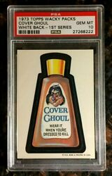 1973 Topps Wacky Packages Cover Ghoul 1st Series White Back Psa 10 Gem Mint Card