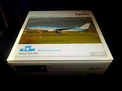1200 Herpa Wings Hogan Klm Royal Dutch Airlines A330-200 Ph-aoa He551847 New