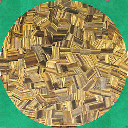 36 Marble Side Dining Table Top Tiger Eye Random Inlay Occasional Decors H1681