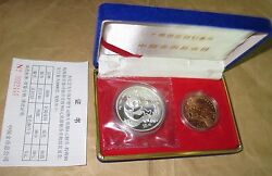 1993 And 4 Chinaprc Protection Rare Wild Animals Giant Panda Silver Coins Set Wi
