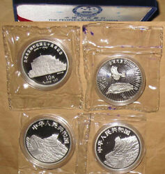 1995 Chinaprc10 Taiwan Restoration 50th Pp Silver Coins Set With Coa Rare