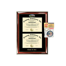 Double Diploma Frame University of Phoenix Degree Framing School College Dual