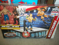 New Wwe Wrestlemania Ring Rock And Cena Pro Tension Ropes New