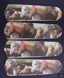 New HORSES HORSE EQUESTRIAN 42quot; Ceiling Fan BLADES ONLY